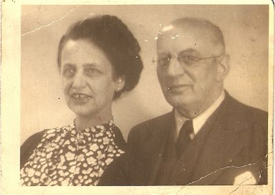 Clemy and Hugo Mosbacher, 1942, Amsterdam. Photo sent to daughter, Rosi in New York.