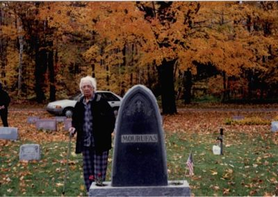 Mouroufas family tombstone, Marquette, Michigan photo taken October, 1990  when Judy visited the Mouroufas relatives.
